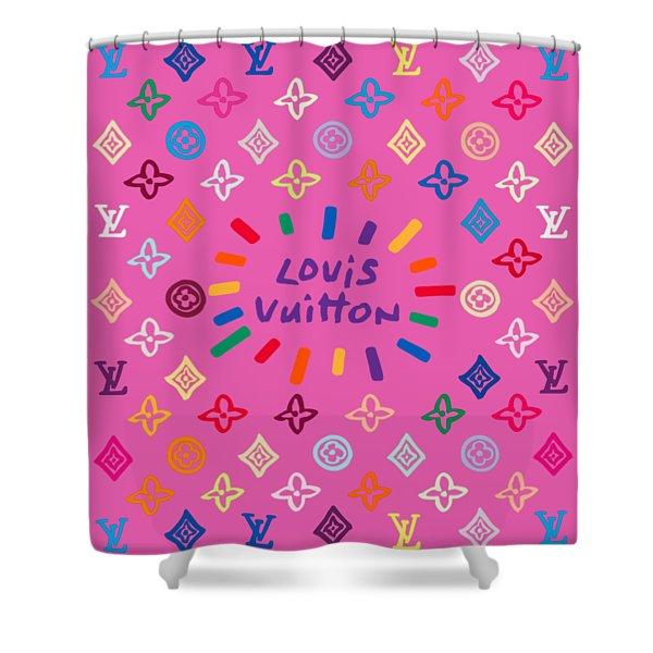 Louis Vuitton Monogram-9 Shower Curtain