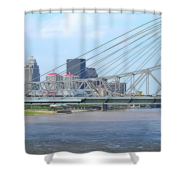 Louisville Across The River Shower Curtain