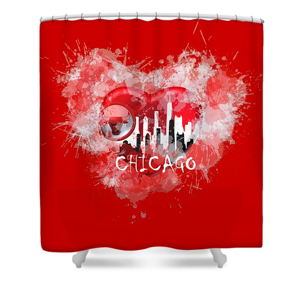 Love Chicago Colors Shower Curtain