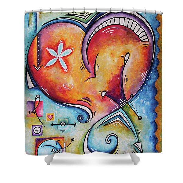 Love Eternal Original Acrylic Heart Love Painting By Megan Duncanson  Shower Curtain