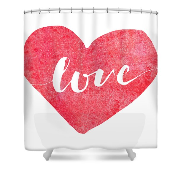Shower Curtain featuring the digital art Love Is In The Air by Bee-Bee Deigner
