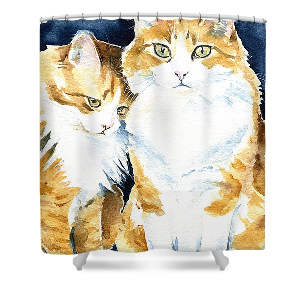 Love Me Meow Cat Painting Shower Curtain