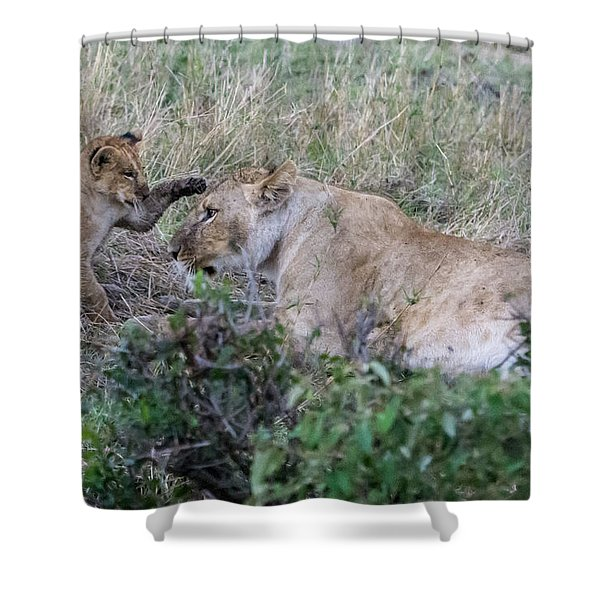 'love You Mom' Shower Curtain