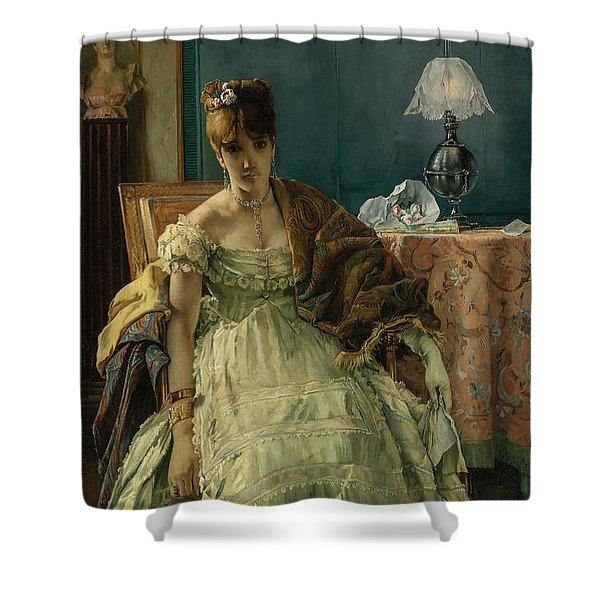 Lovelorn, 19th Century Shower Curtain