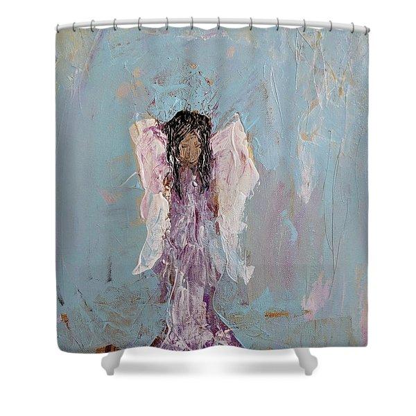 Lovely Angel  Shower Curtain