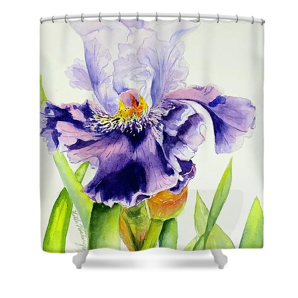 Lovely Iris Shower Curtain