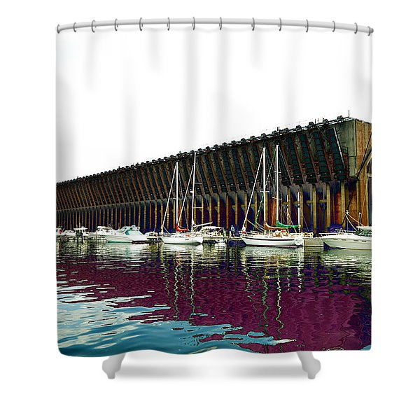 Lower Harbor Ore Dock At Marquette Michigan. Shower Curtain