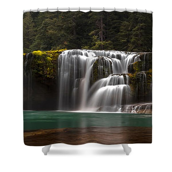 Lower Lewis Falls Pano Shower Curtain