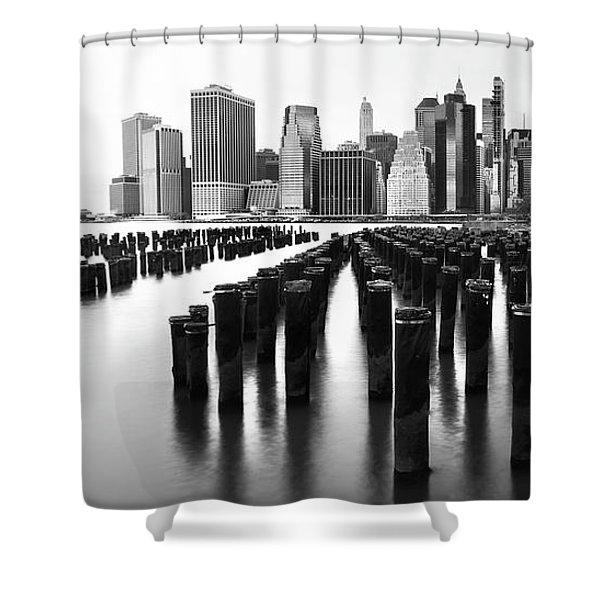 Lower Manhattan Skyline From Pier 1 Shower Curtain
