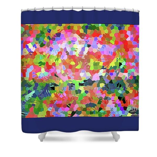 Luka 1007 Mosaic Shower Curtain