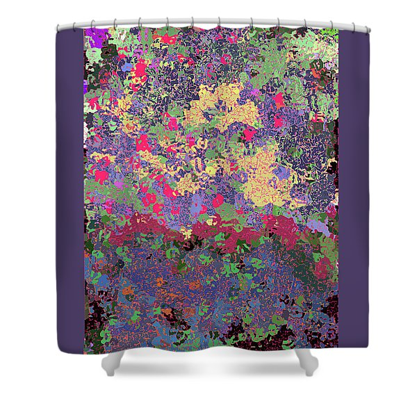 Luka Abstract 1010 Shower Curtain