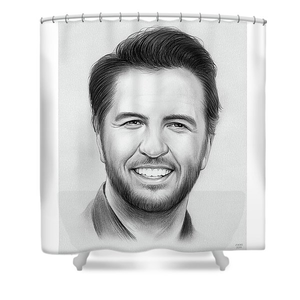 Luke Bryan Shower Curtain