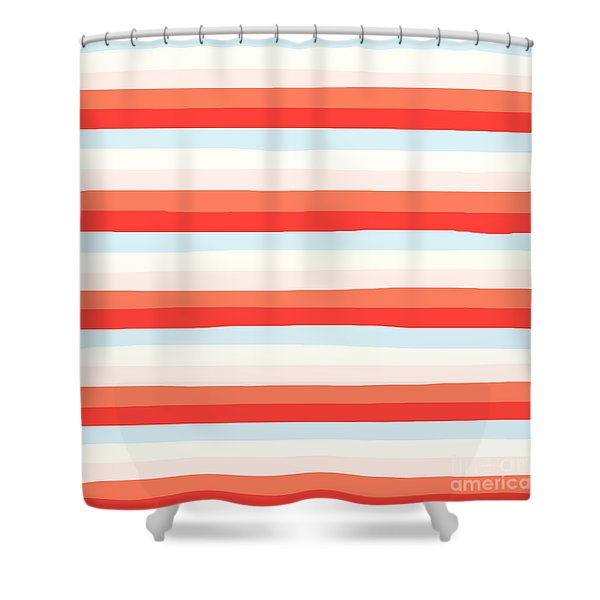 lumpy or bumpy lines abstract and colorful - QAB266 Shower Curtain