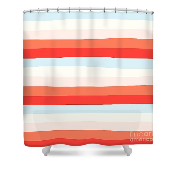 lumpy or bumpy lines abstract and colorful - QAB268 Shower Curtain