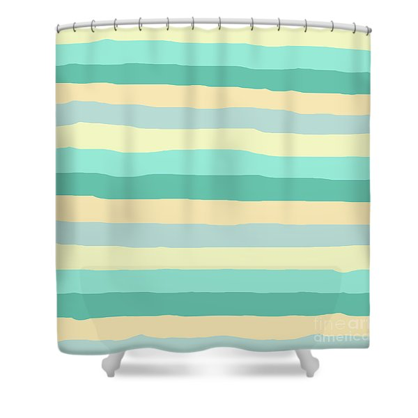 lumpy or bumpy lines abstract and summer colorful - QAB271 Shower Curtain