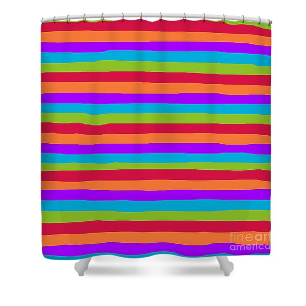 lumpy or bumpy lines abstract and summer colorful - QAB273 Shower Curtain
