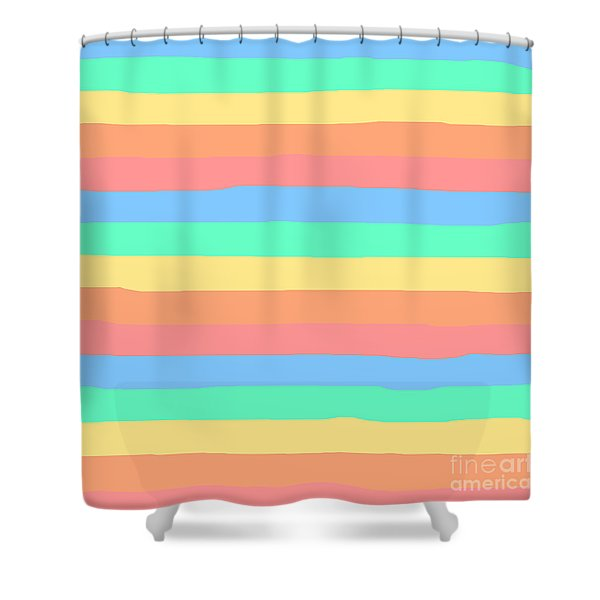 lumpy or bumpy lines abstract and summer colorful - QAB275 Shower Curtain