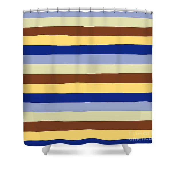 lumpy or bumpy lines abstract and summer colorful - QAB277 Shower Curtain
