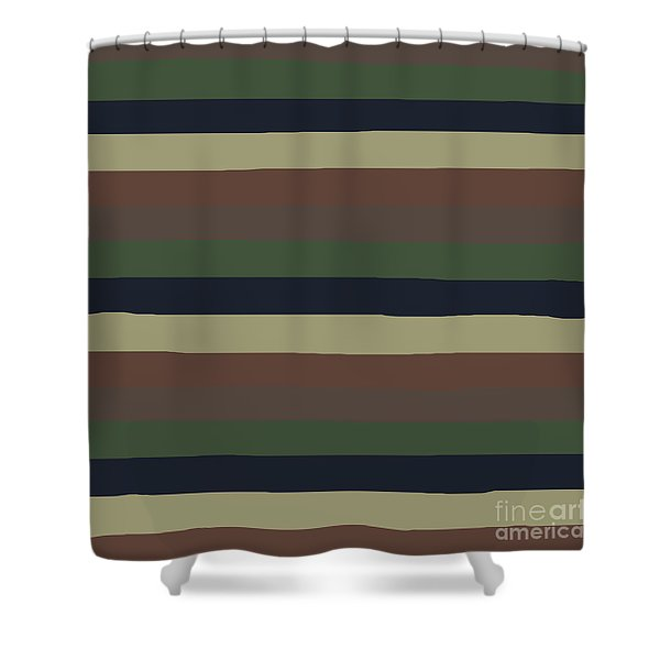 Army Color Style Lumpy Or Bumpy Lines - Qab279 Shower Curtain