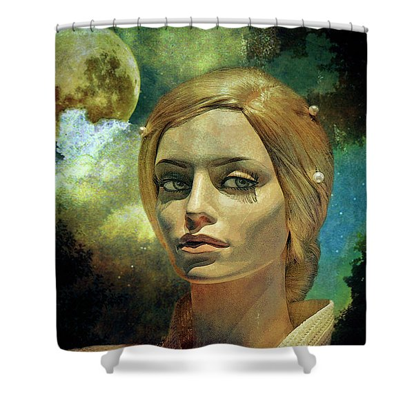 Luna In The Garden Of Evil Shower Curtain