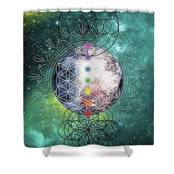Shower Curtain featuring the digital art Lunar Mysteries by Bee-Bee Deigner