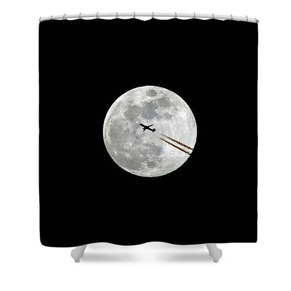 Lunar Silhouette In Sequence Shower Curtain