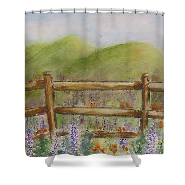 Lupines With A Side Of Poppies Shower Curtain