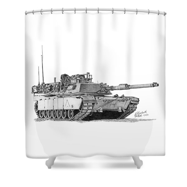 M1a1 A Company 1st Platoon Shower Curtain