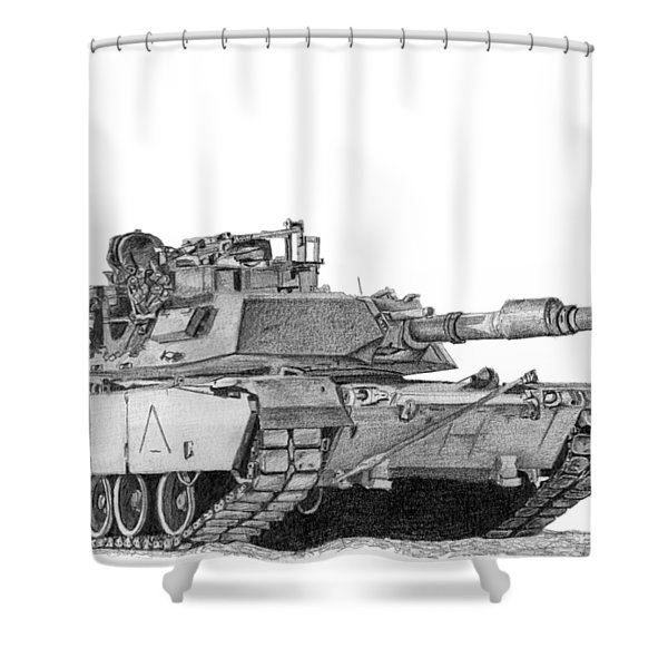 M1a1 A Company 1st Platoon Commander Shower Curtain