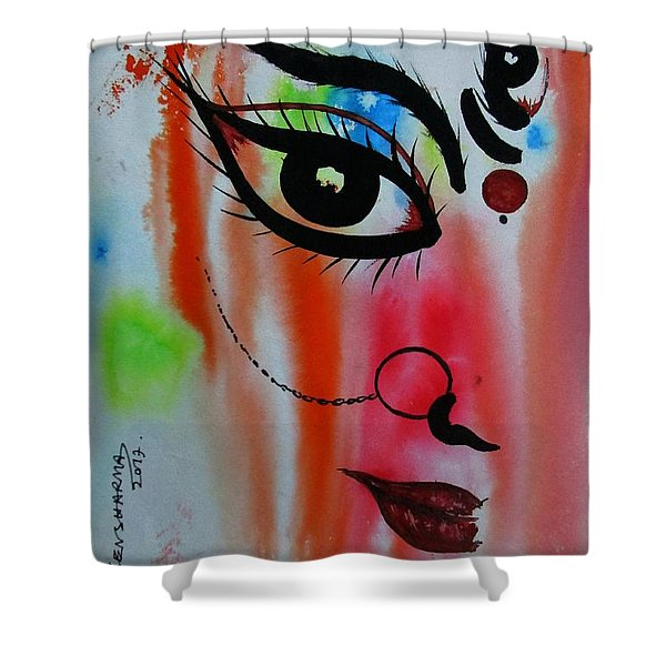 Ma Durga-5 Shower Curtain