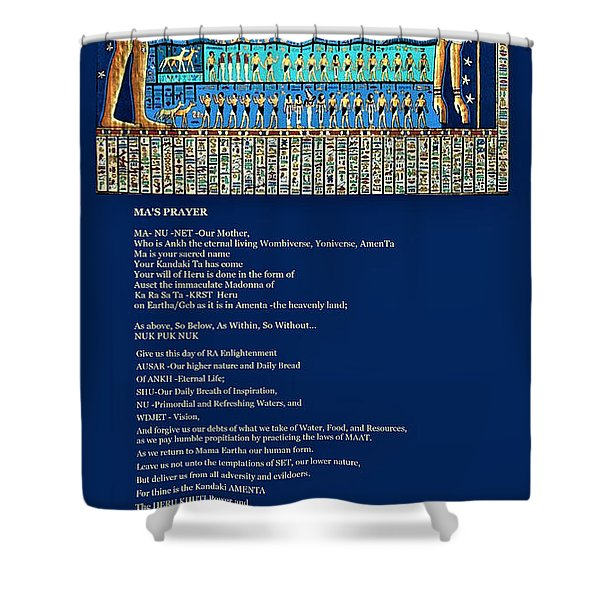 Ma Of Amenta Shower Curtain