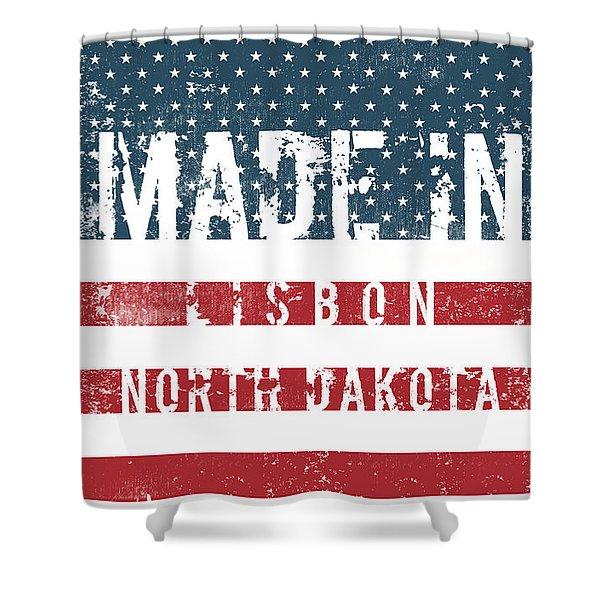 Made In Lisbon, North Dakota #lisbon Shower Curtain
