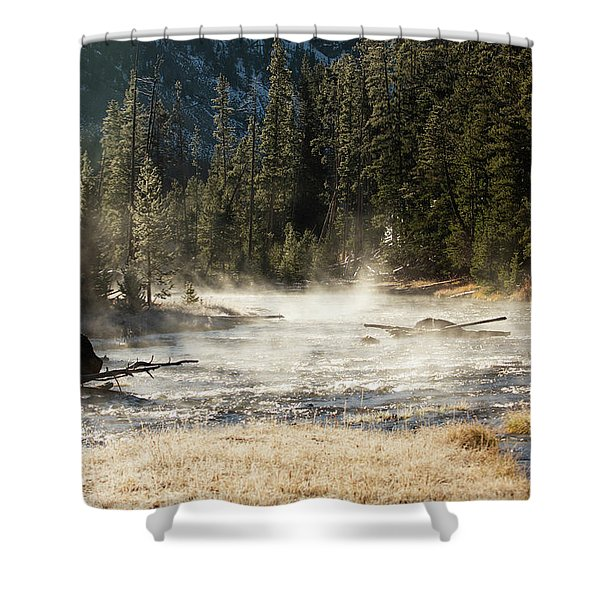 Madison River Morning Shower Curtain