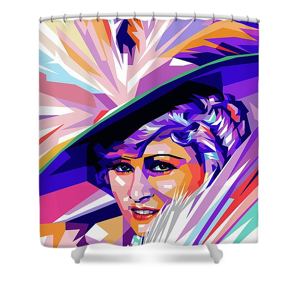 Mae West Pop Art Shower Curtain