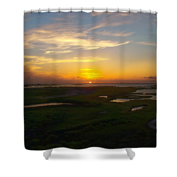 Maggies Cove Sunset Shower Curtain