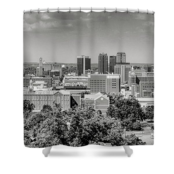 Magic City Skyline Bw Shower Curtain