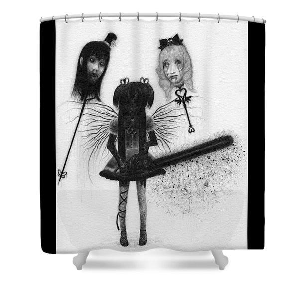Magical Girl Bloody Nightmare - Artwork Shower Curtain