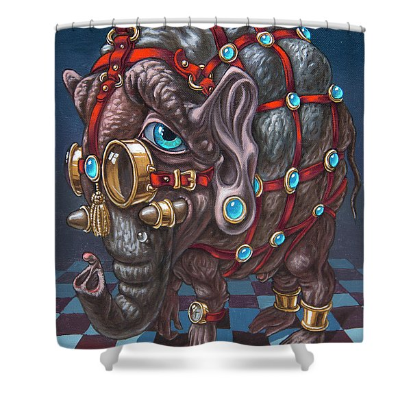 Magical Many-eyed Elephant Shower Curtain