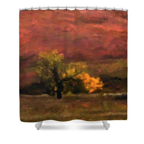 Shower Curtain featuring the painting Magnificent Autumn Colors by Gerlinde Keating - Galleria GK Keating Associates Inc