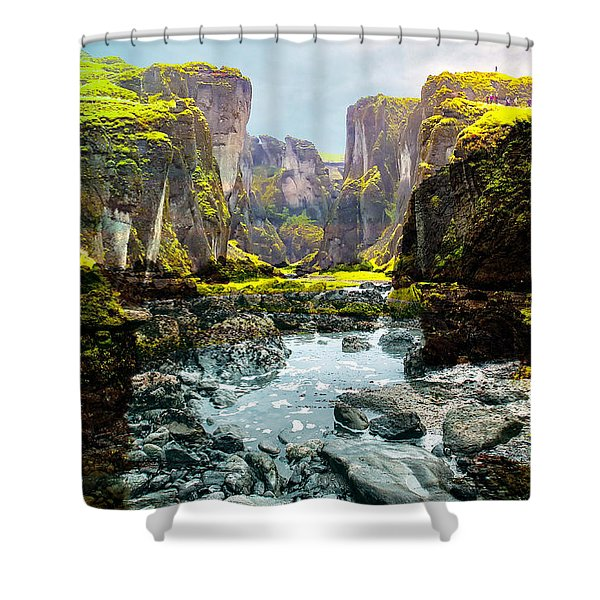 Magnificent Rural Canyons Montage Shower Curtain