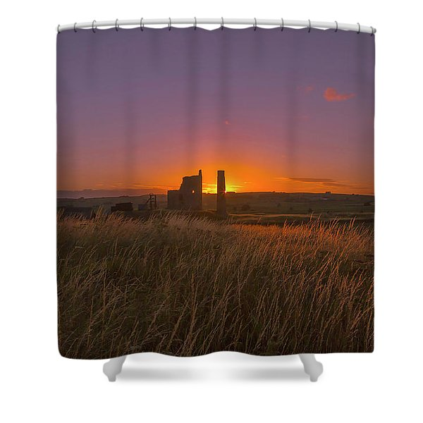 Magpie Mine Sunset Shower Curtain