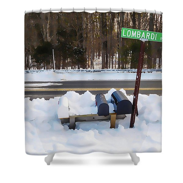 Mailboxes Covered In Snow 2 Shower Curtain