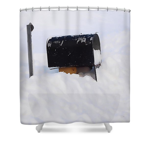 Mailboxes Covered In Snow 3 Shower Curtain