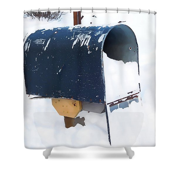 Mailboxes Covered In Snow 5 Shower Curtain