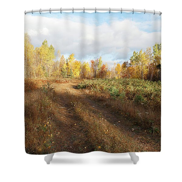 Maine Wilderness Color Shower Curtain