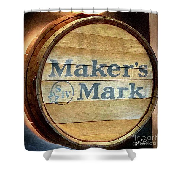 Makers Mark Barrel Shower Curtain