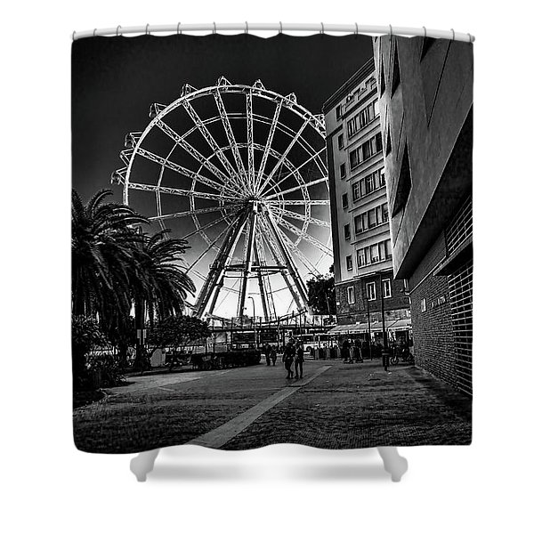 Malaga Ferris Wheel Shower Curtain