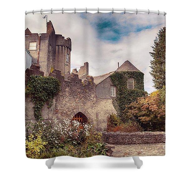 Malahide Castle By Autumn  Shower Curtain