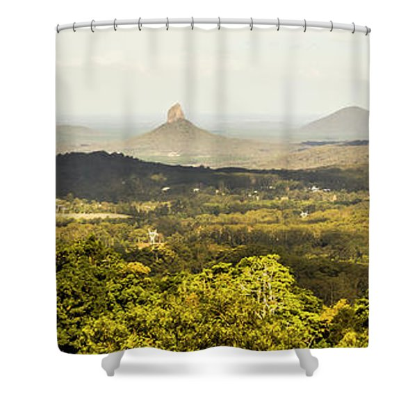 Maleny To The Glass House Mountains Shower Curtain
