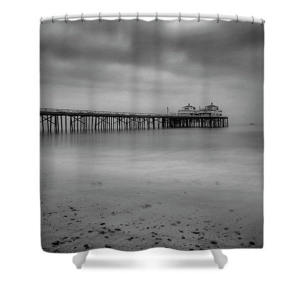 Malibu Pier Shower Curtain